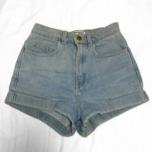💙 american apparel denim shorts